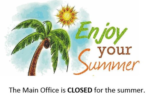 The Main Office is closed until 7/27/20